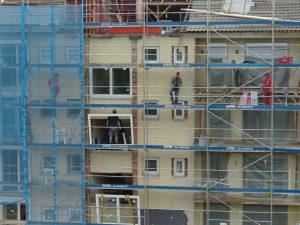 Energetische Sanierung an einem Wohngebäude